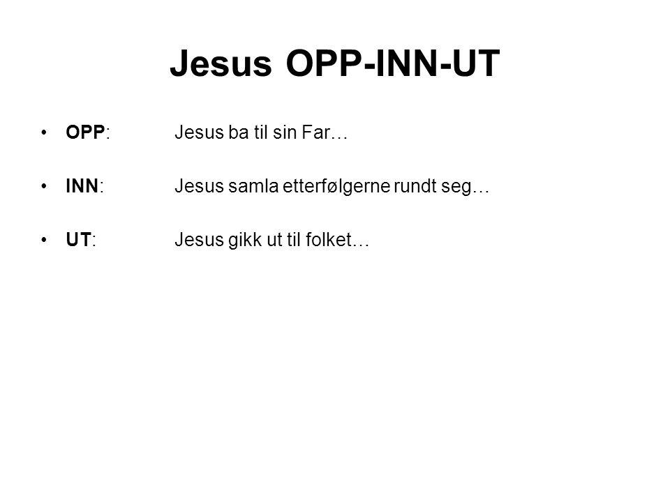 Jesus OPP-INN-UT OPP: Jesus ba til sin Far…