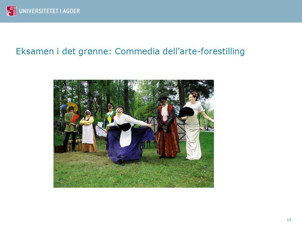 Eksamen i det grønne: Commedia dell'arte-forestilling