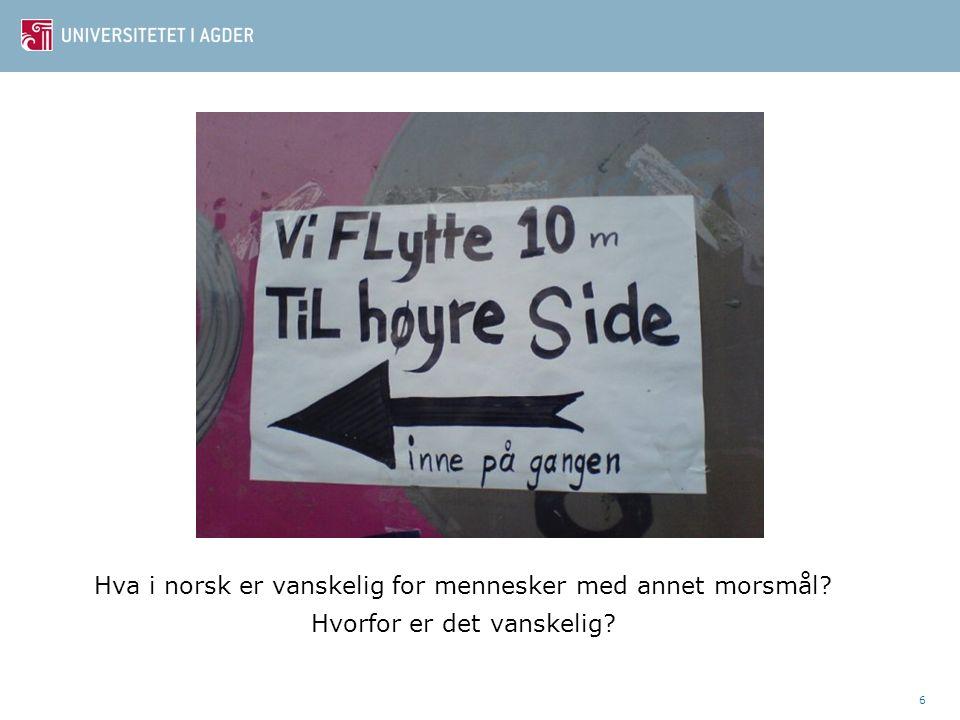 Hva i norsk er vanskelig for mennesker med annet morsmål