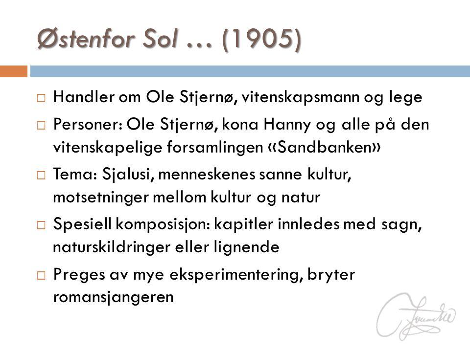Østenfor Sol … (1905) Handler om Ole Stjernø, vitenskapsmann og lege