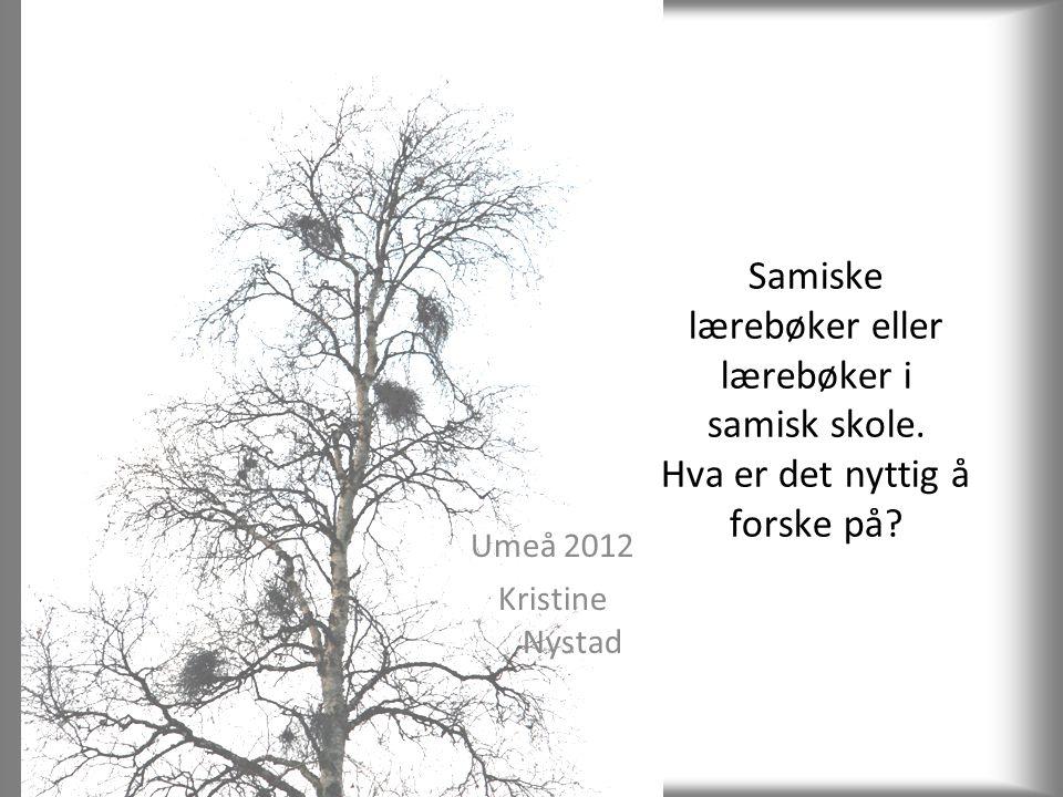 Samiske lærebøker eller lærebøker i samisk skole