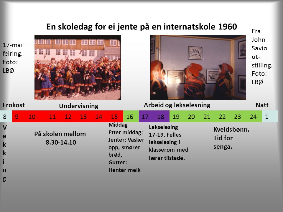 En skoledag for ei jente på en internatskole 1960