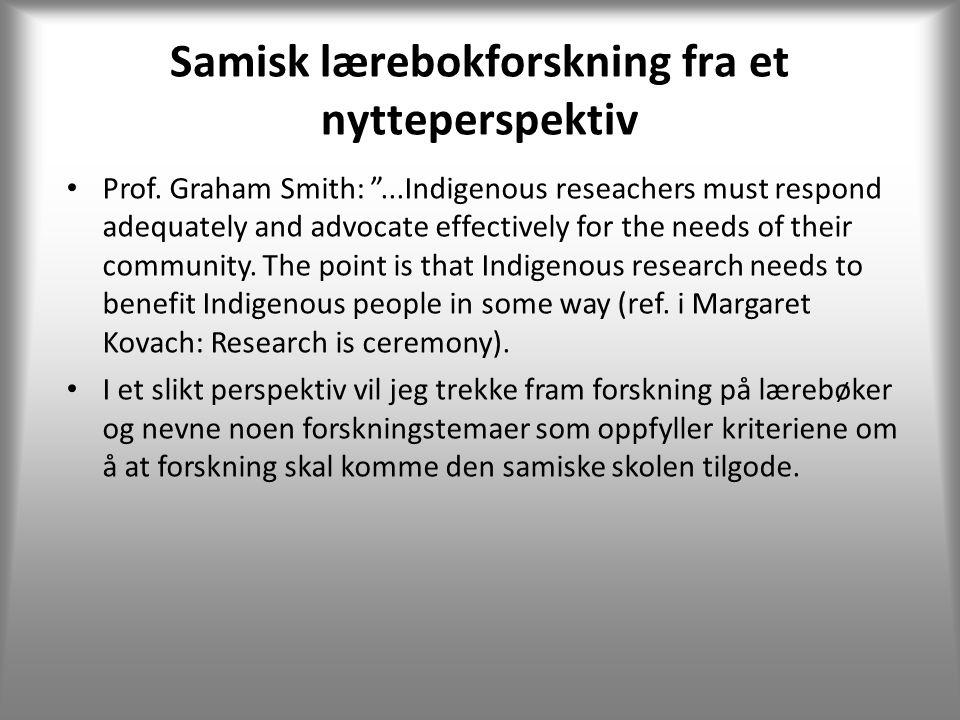 Samisk lærebokforskning fra et nytteperspektiv