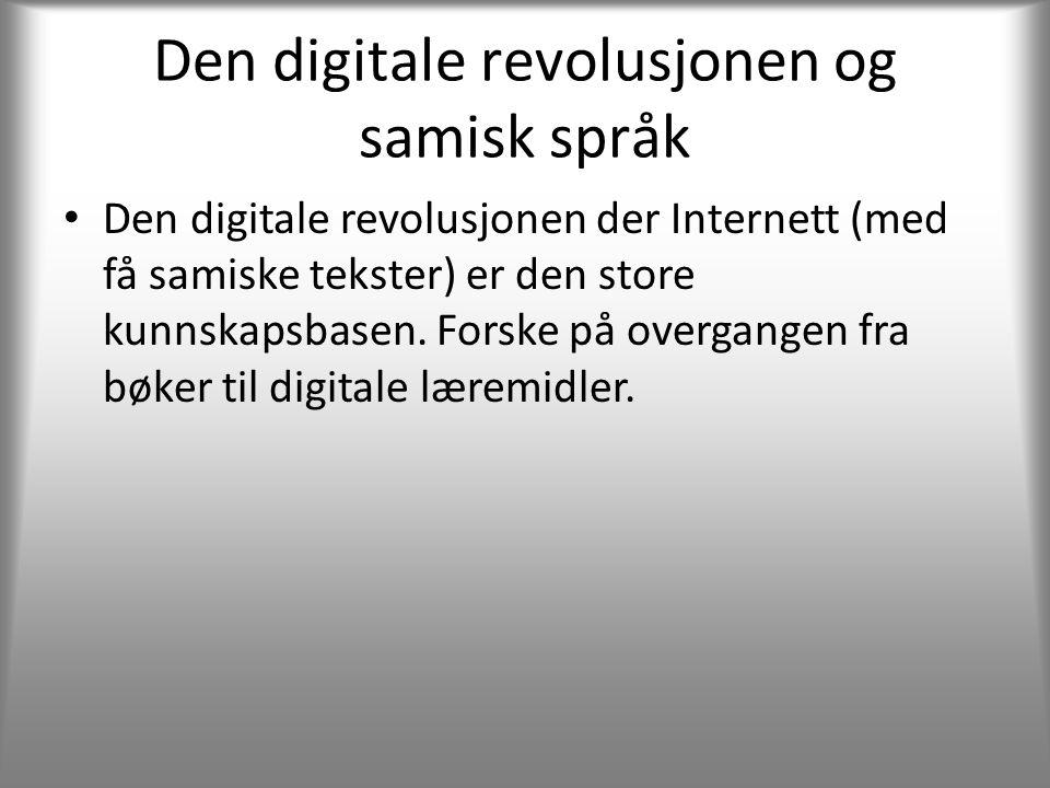 Den digitale revolusjonen og samisk språk