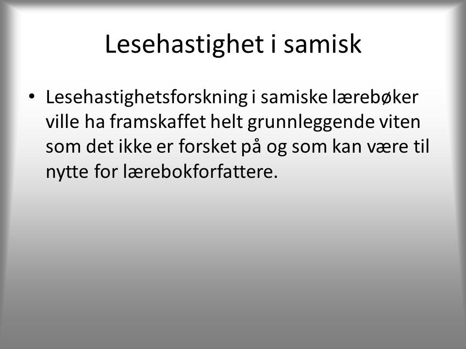 Lesehastighet i samisk