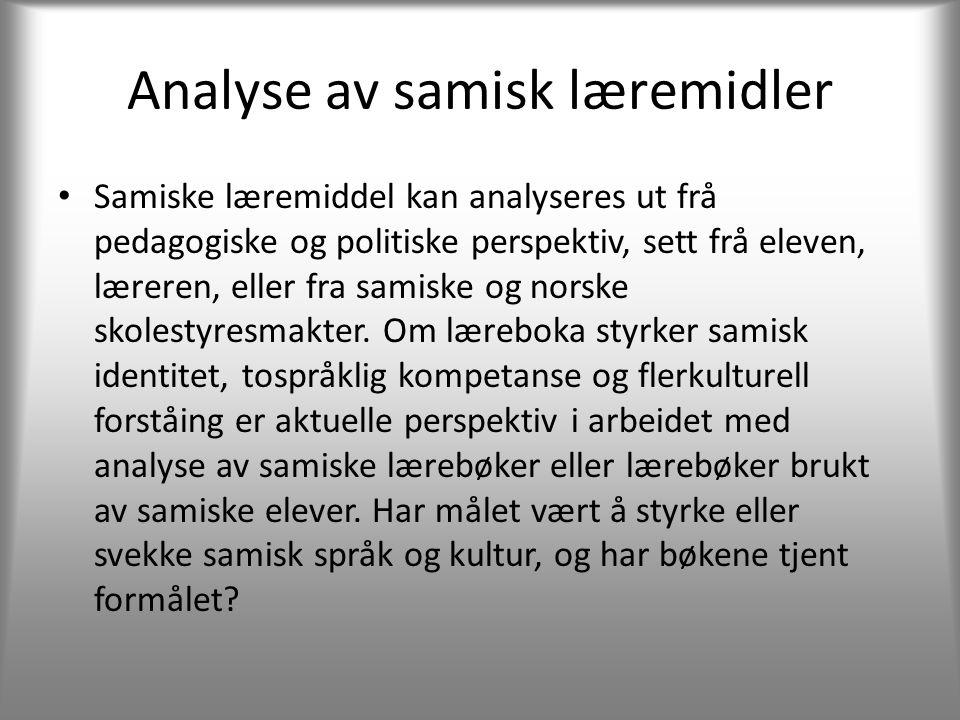 Analyse av samisk læremidler