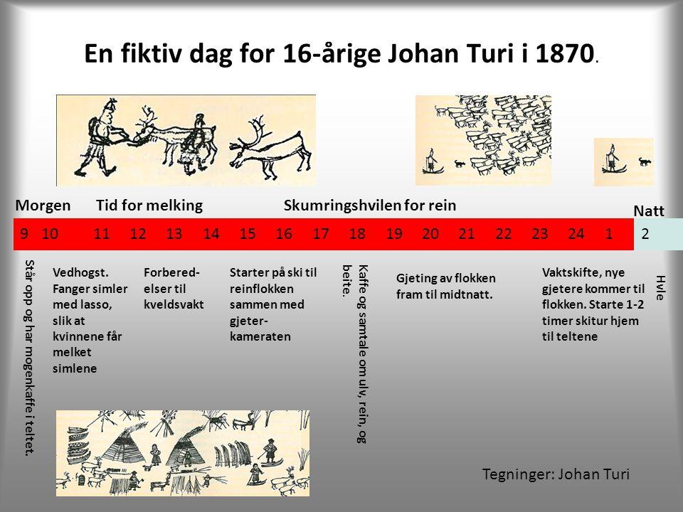 En fiktiv dag for 16-årige Johan Turi i 1870.