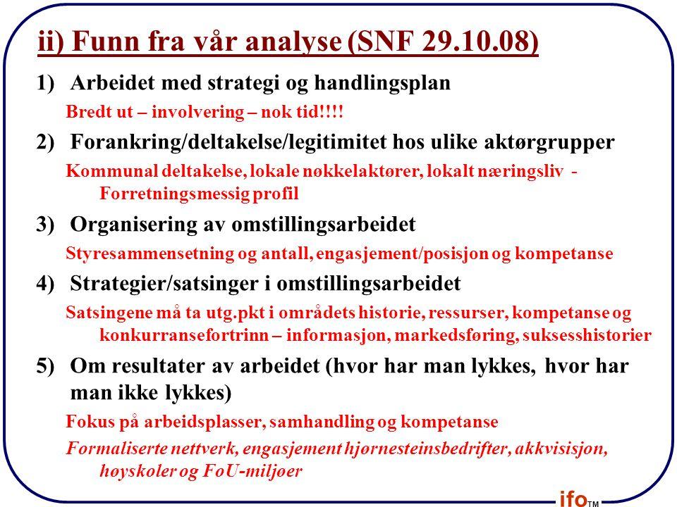 ii) Funn fra vår analyse (SNF 29.10.08)