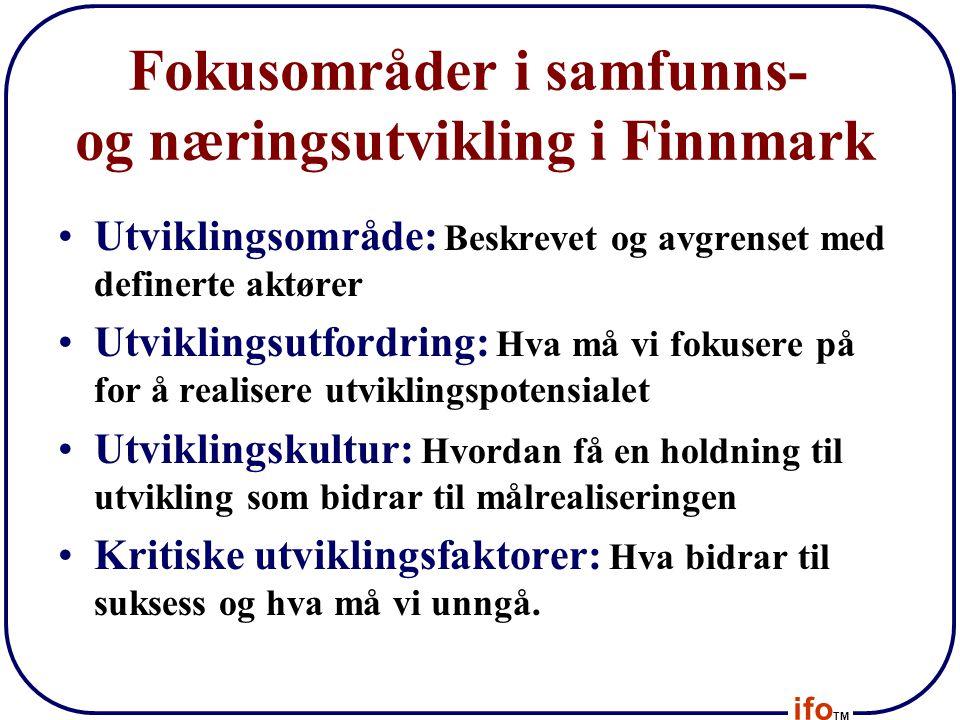 Fokusområder i samfunns- og næringsutvikling i Finnmark