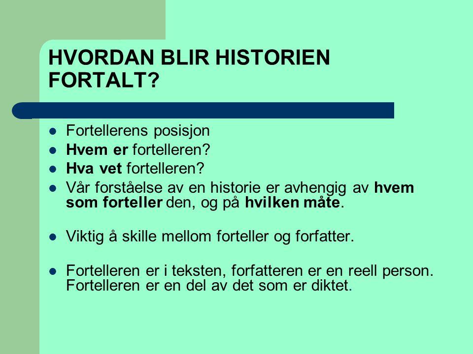 HVORDAN BLIR HISTORIEN FORTALT