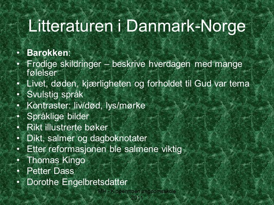Litteraturen i Danmark-Norge