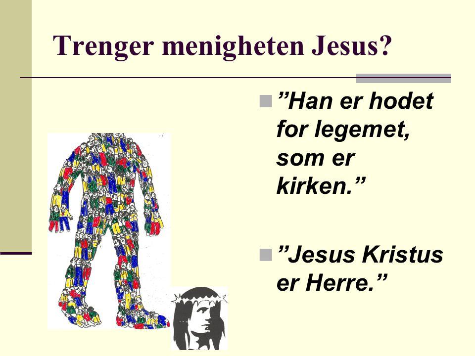 Trenger menigheten Jesus