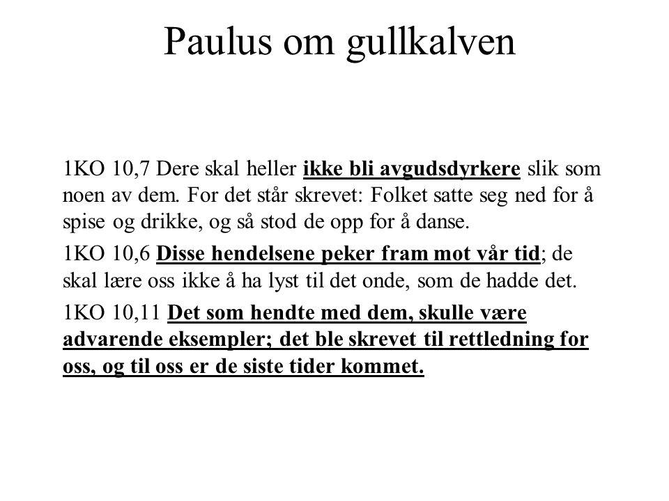 Paulus om gullkalven