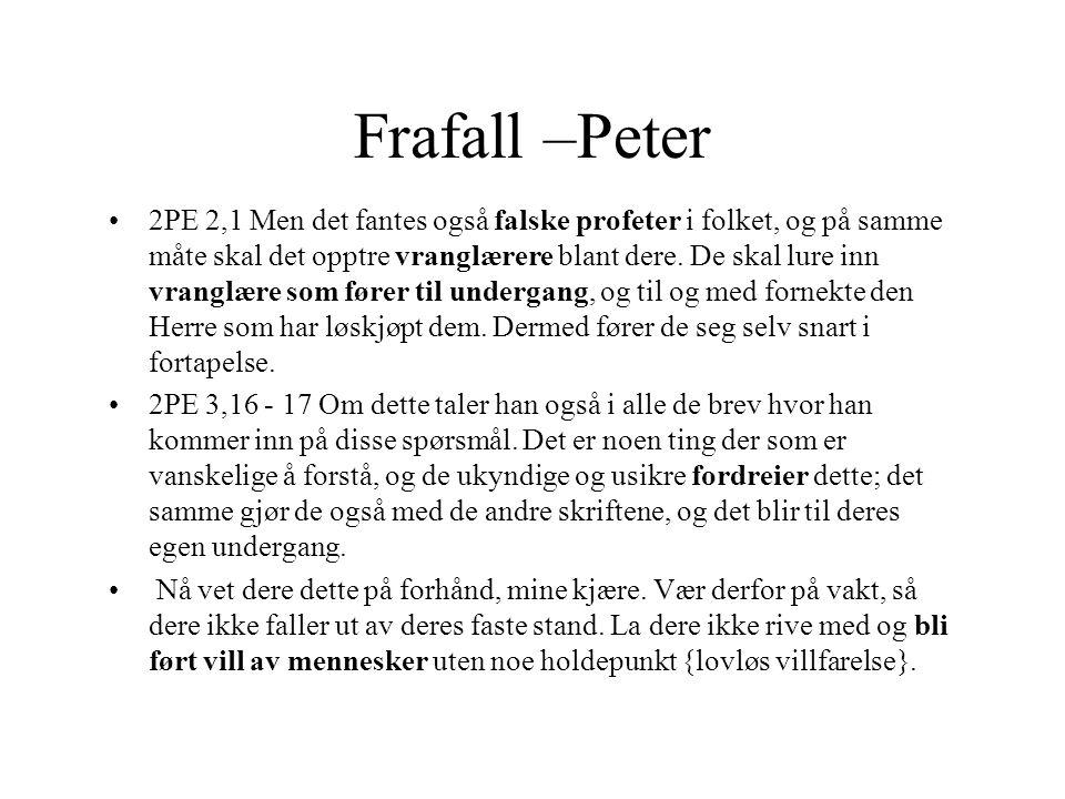 Frafall –Peter
