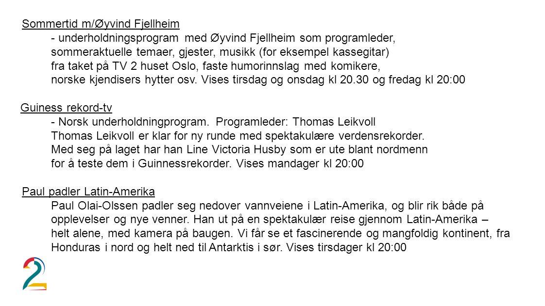 Sommertid m/Øyvind Fjellheim
