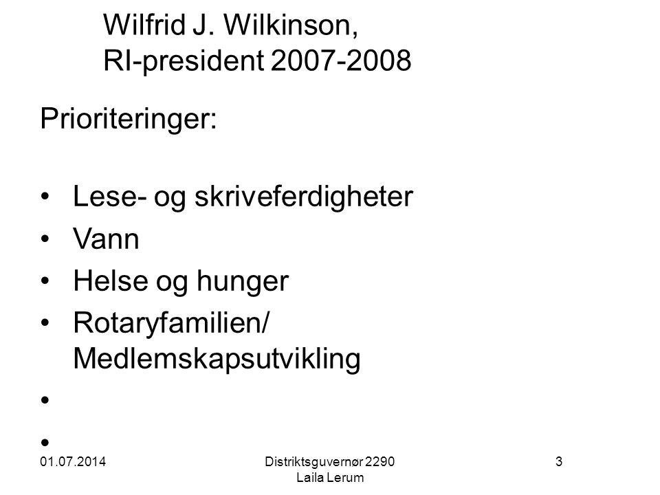 Wilfrid J. Wilkinson, RI-president 2007-2008