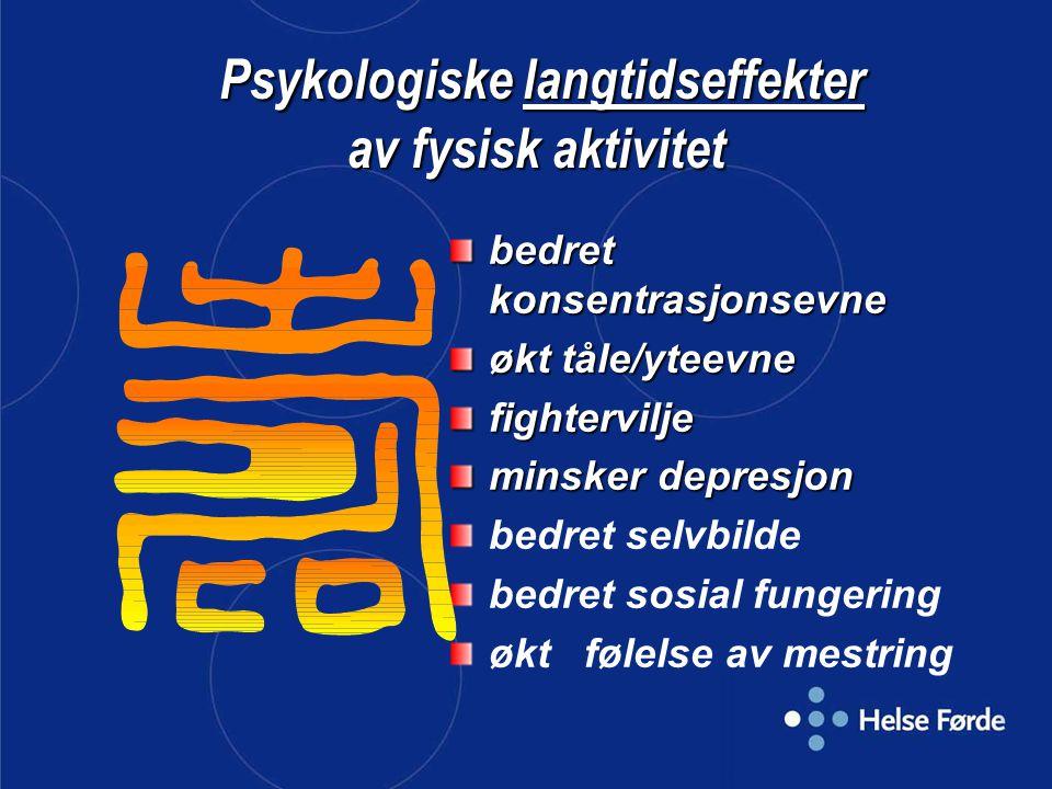 Psykologiske langtidseffekter av fysisk aktivitet