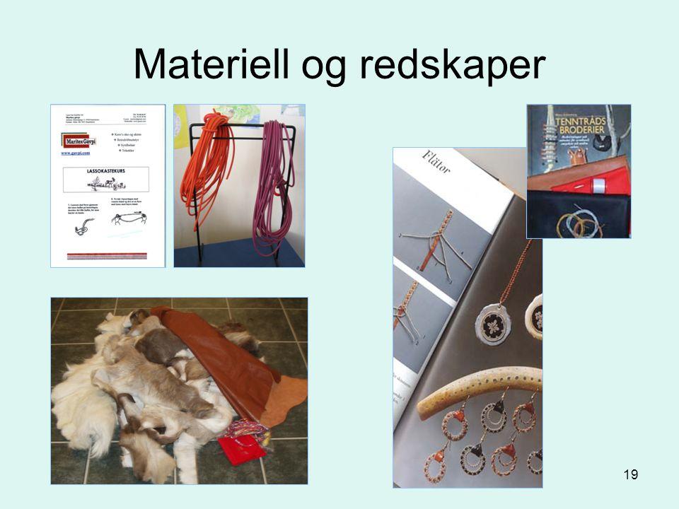 Materiell og redskaper