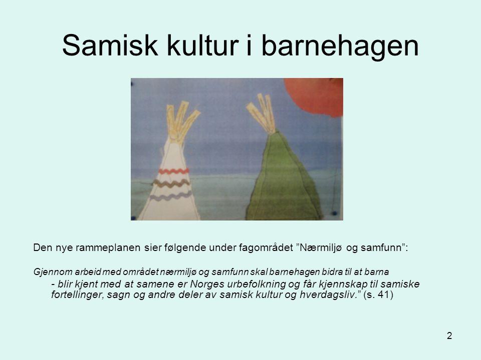 Samisk kultur i barnehagen