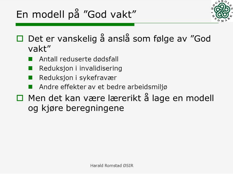 En modell på God vakt Det er vanskelig å anslå som følge av God vakt Antall reduserte dødsfall.