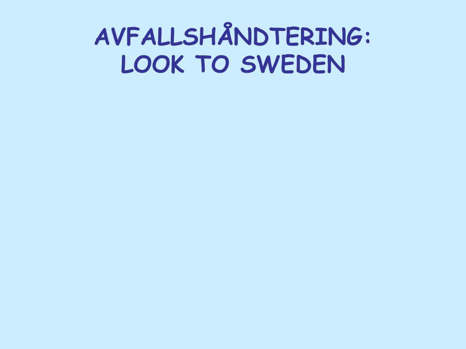 AVFALLSHÅNDTERING: LOOK TO SWEDEN