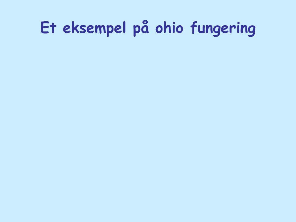 Et eksempel på ohio fungering