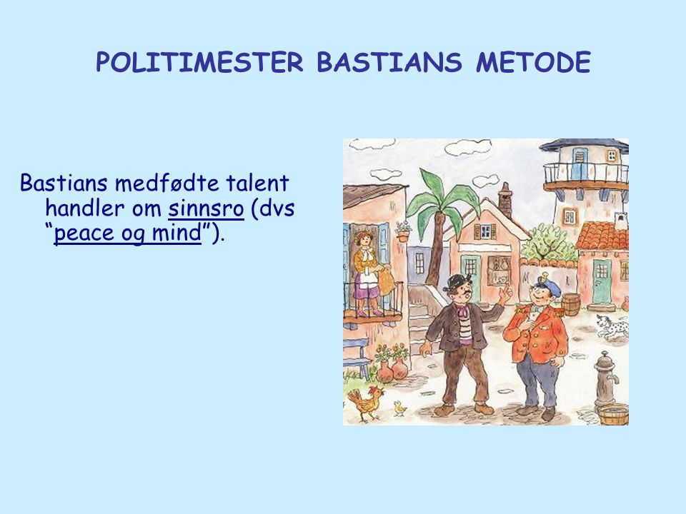 POLITIMESTER BASTIANS METODE
