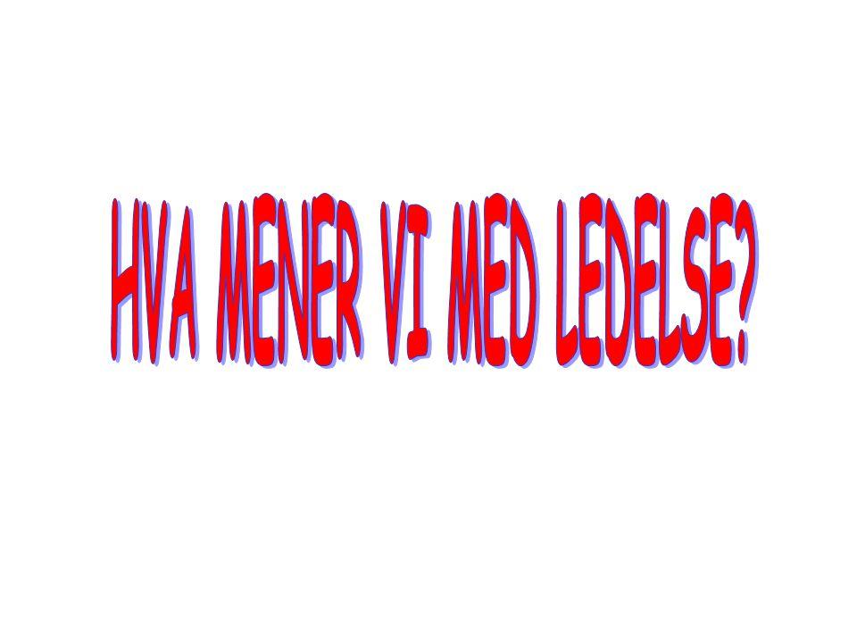 HVA MENER VI MED LEDELSE