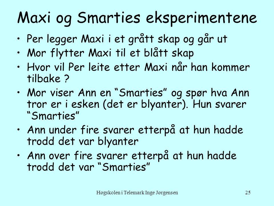 Maxi og Smarties eksperimentene