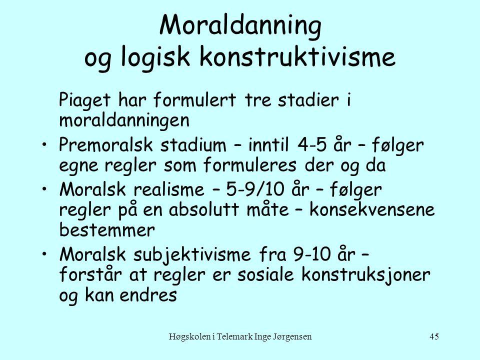 Moraldanning og logisk konstruktivisme