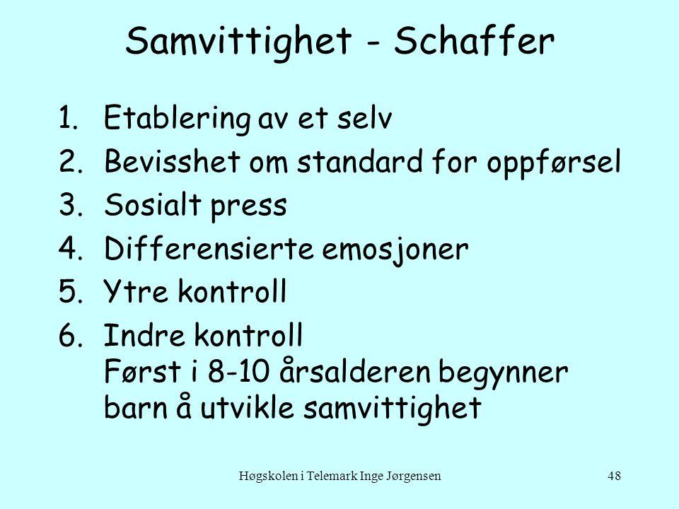 Samvittighet - Schaffer