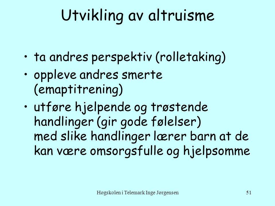 Utvikling av altruisme