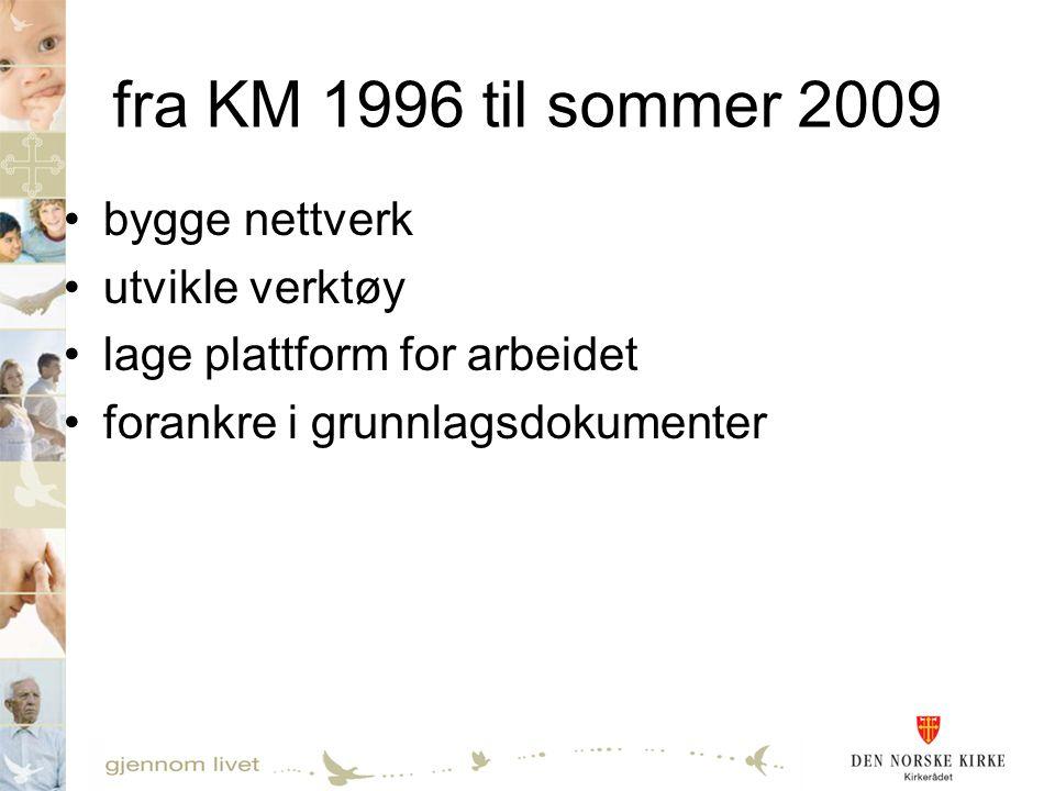fra KM 1996 til sommer 2009 bygge nettverk utvikle verktøy