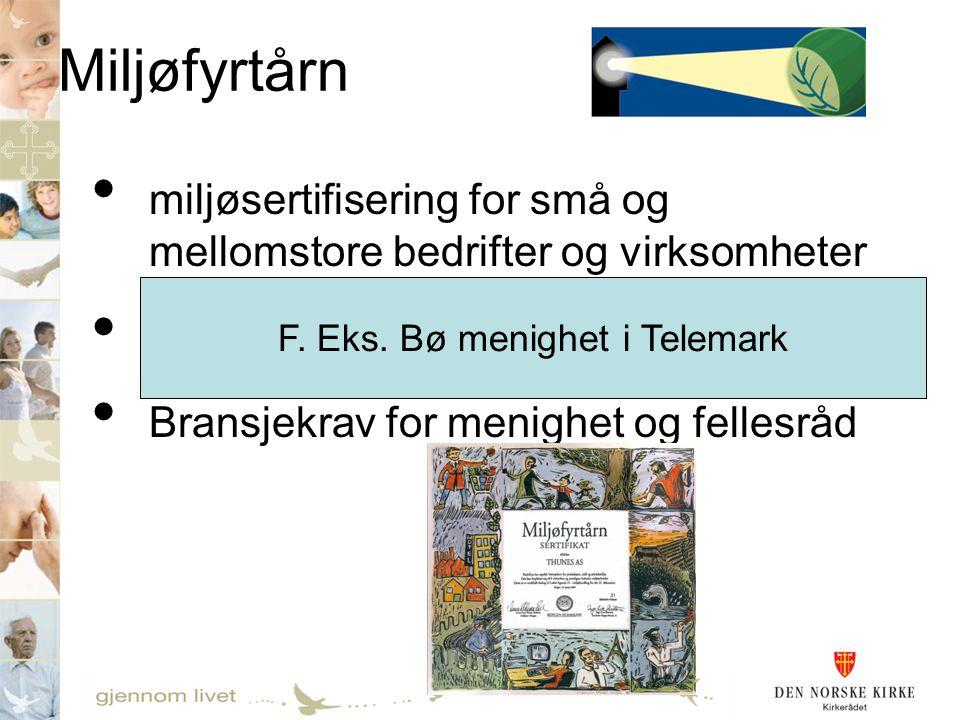 F. Eks. Bø menighet i Telemark