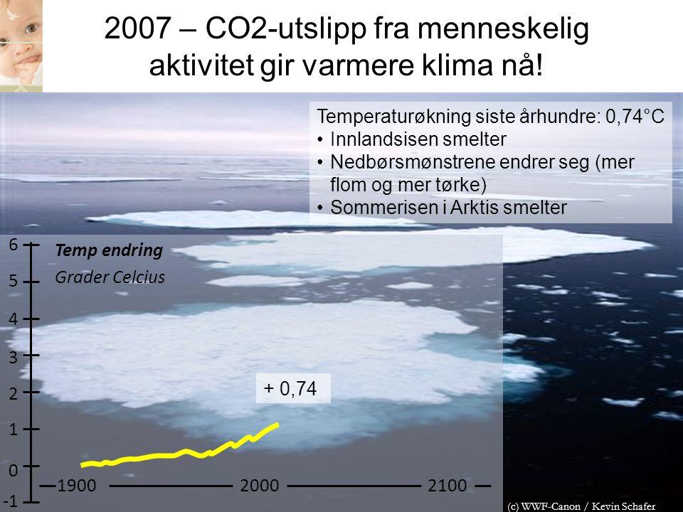 2007 – CO2-utslipp fra menneskelig aktivitet gir varmere klima nå!