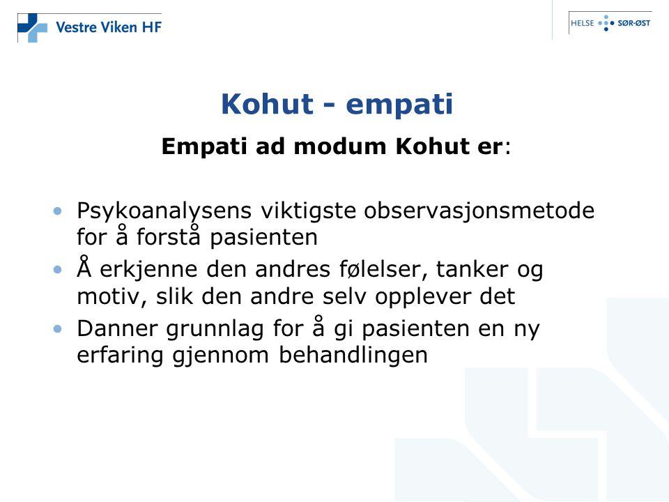 Empati ad modum Kohut er: