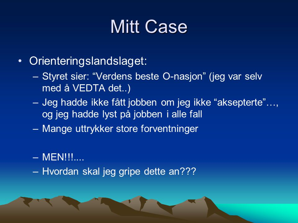 Mitt Case Orienteringslandslaget: