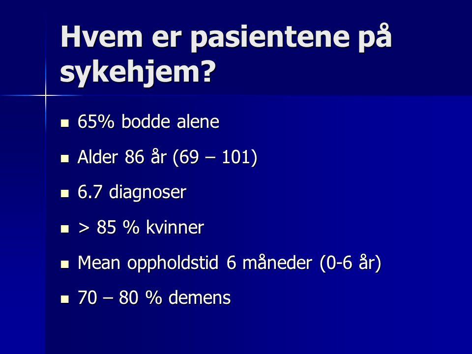 Hvem er pasientene på sykehjem