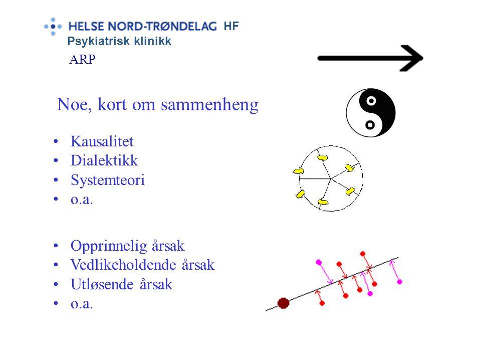 Noe, kort om sammenheng Kausalitet Dialektikk Systemteori o.a.