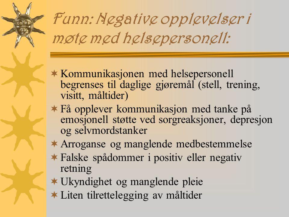 Funn: Negative opplevelser i møte med helsepersonell:
