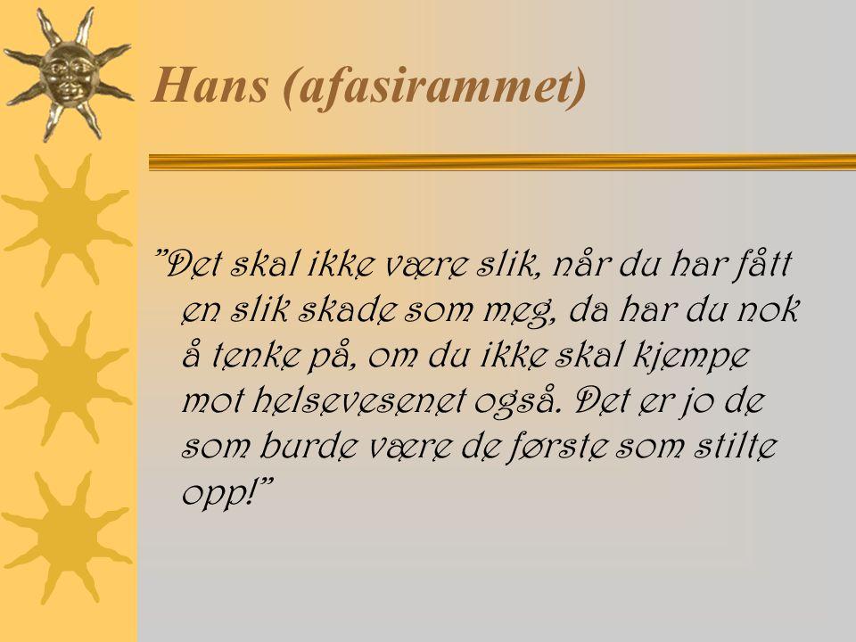Hans (afasirammet)
