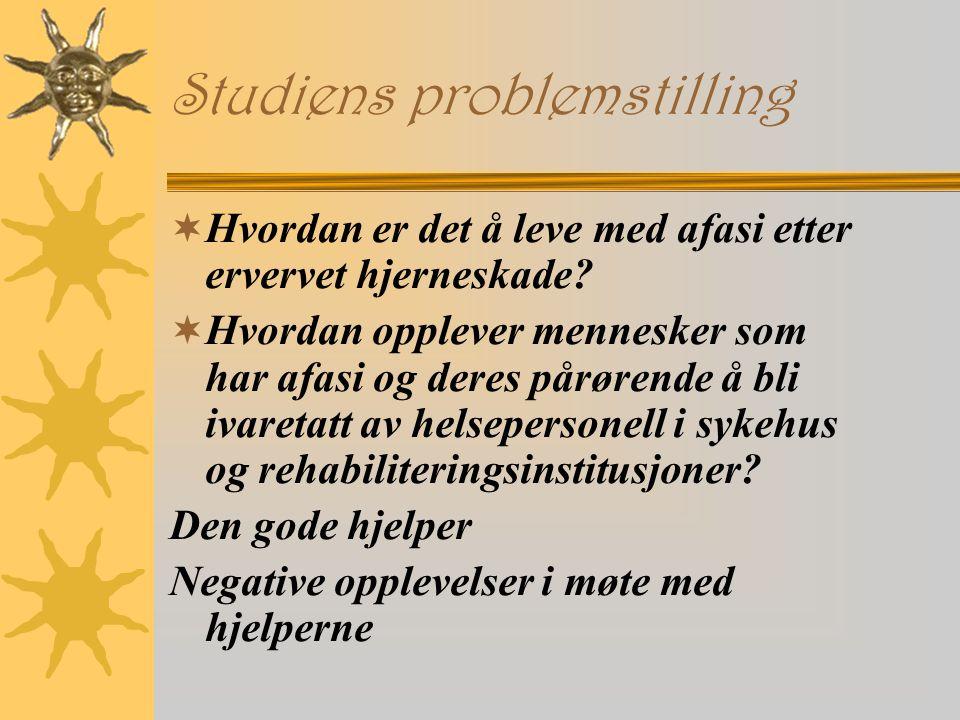 Studiens problemstilling