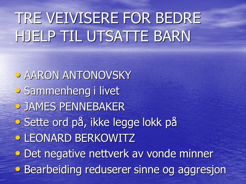 TRE VEIVISERE FOR BEDRE HJELP TIL UTSATTE BARN
