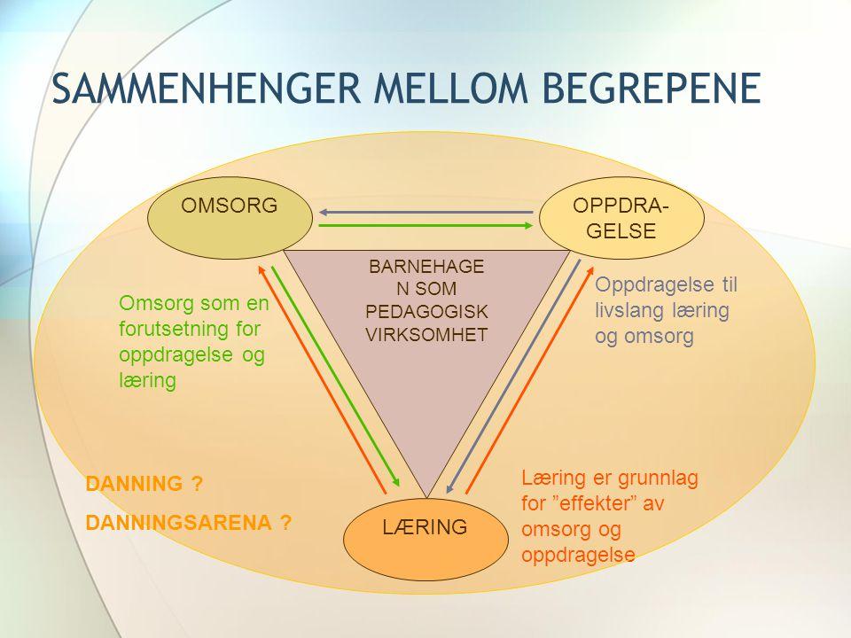 SAMMENHENGER MELLOM BEGREPENE