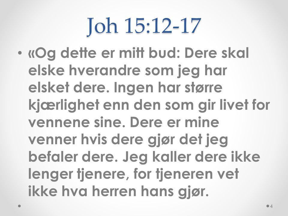 Joh 15:12-17