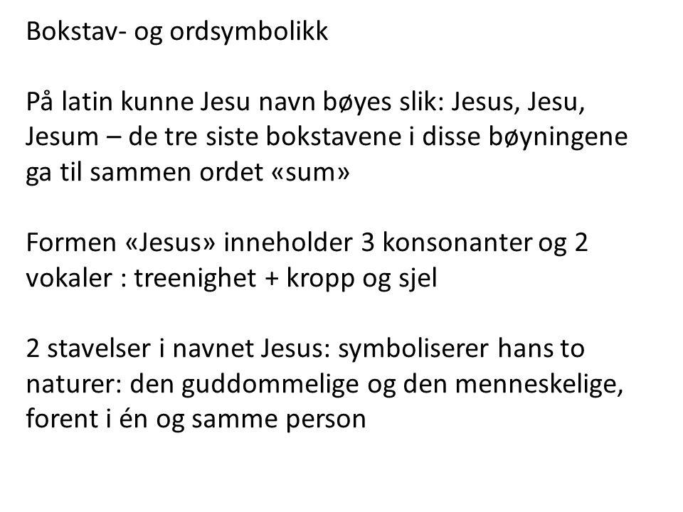 Bokstav- og ordsymbolikk