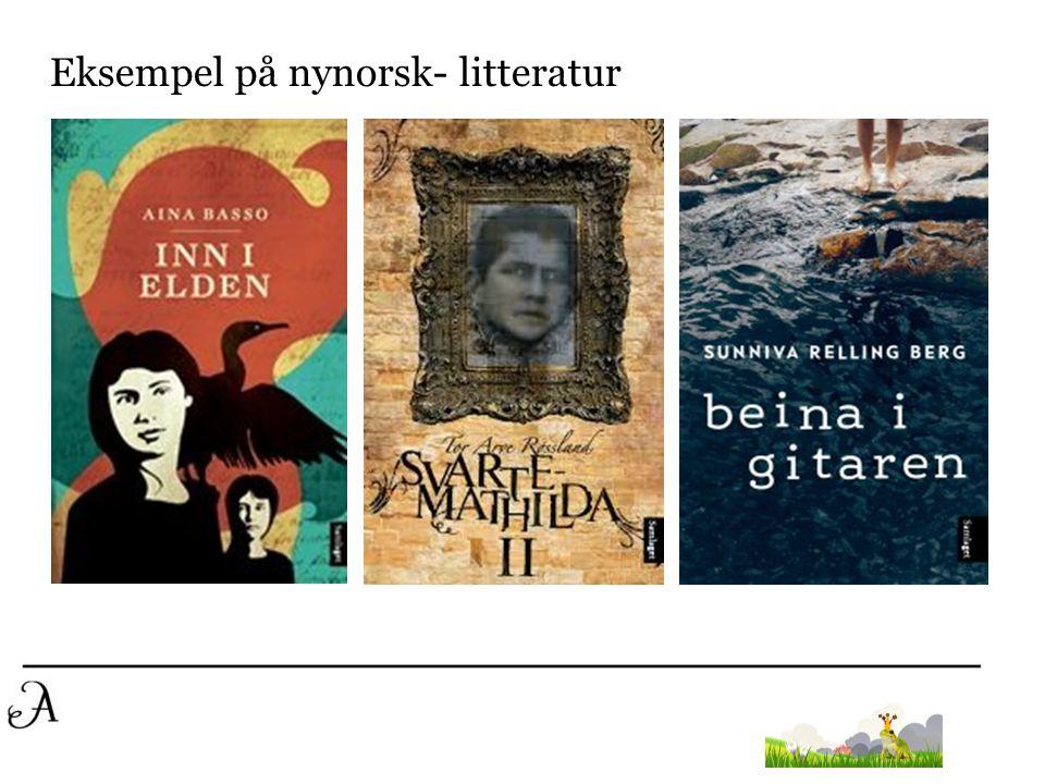 Eksempel på nynorsk- litteratur
