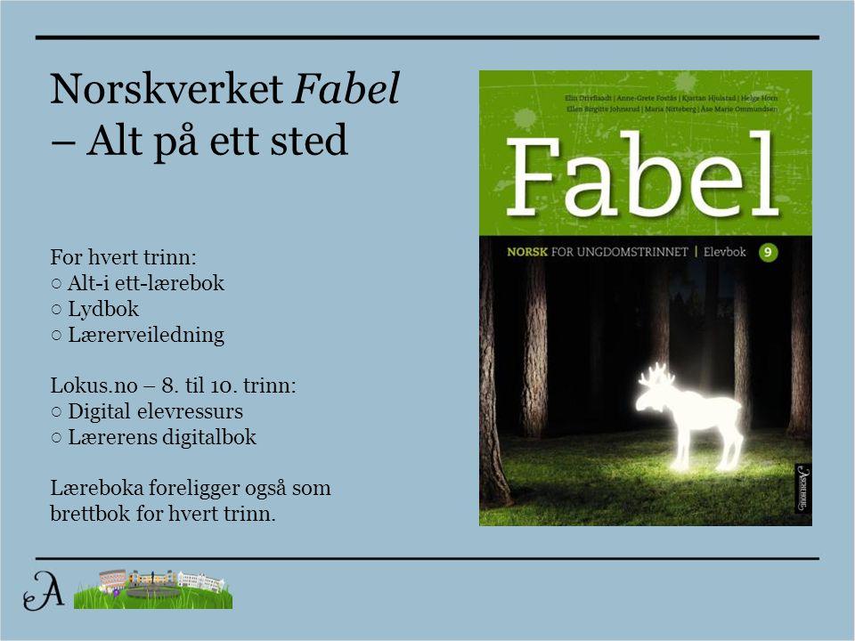Norskverket Fabel – Alt på ett sted