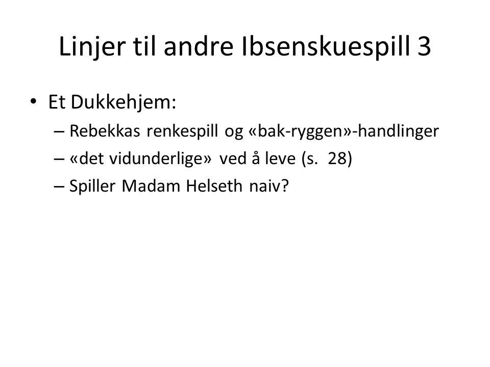 Linjer til andre Ibsenskuespill 3