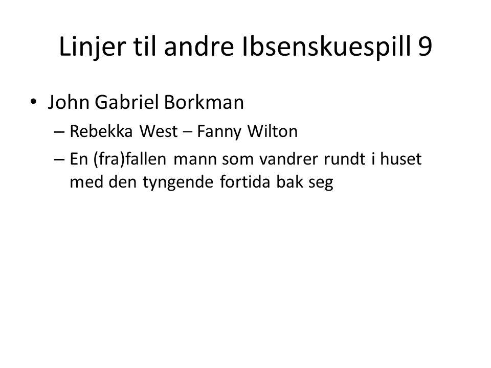 Linjer til andre Ibsenskuespill 9